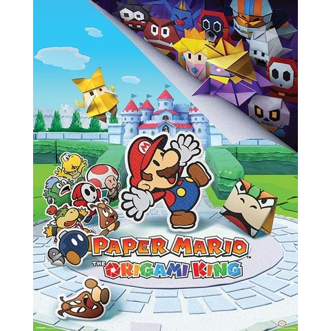 Paper Mario The Origami King Mini Poster