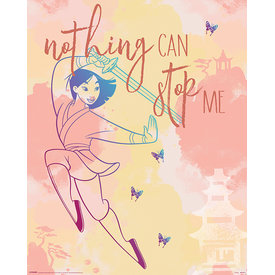 Mulan Nothing Can Stop Me Mini Poster
