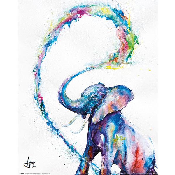 Marc Allante Elephant Mini Poster