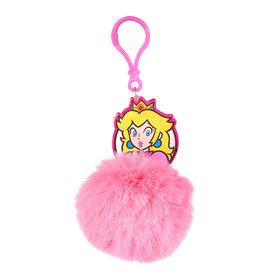 Super Mario Princess Peach - Pom Pom Keyring