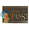 Lord Of The Rings You Shall Not Pass Rubber Doormat