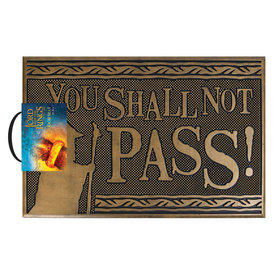 Lord Of The Rings You Shall Not Pass Rubber Tapis-brosse
