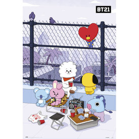 BT21 Rooftop Maxi Poster