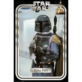 Star Wars Boba Fett Retro Packaging Maxi Poster