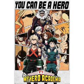 My Hero Academia Be A Hero Maxi Poster