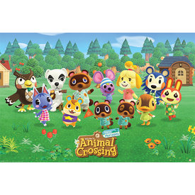 Animal Crossing New Horizons Line Up Maxi Poster