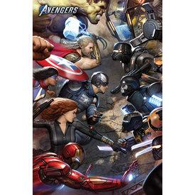 Avengers Gamerverse Face Off Maxi Poster