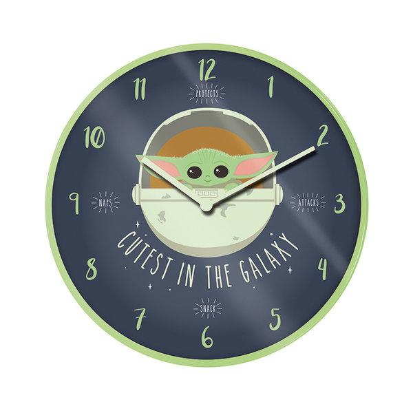 "Star Wars The Mandalorian Cutest In The Galaxy 10"" Wall Clock"