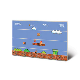 Super Mario Bros. 1-1 Wooden Art 43X59cm