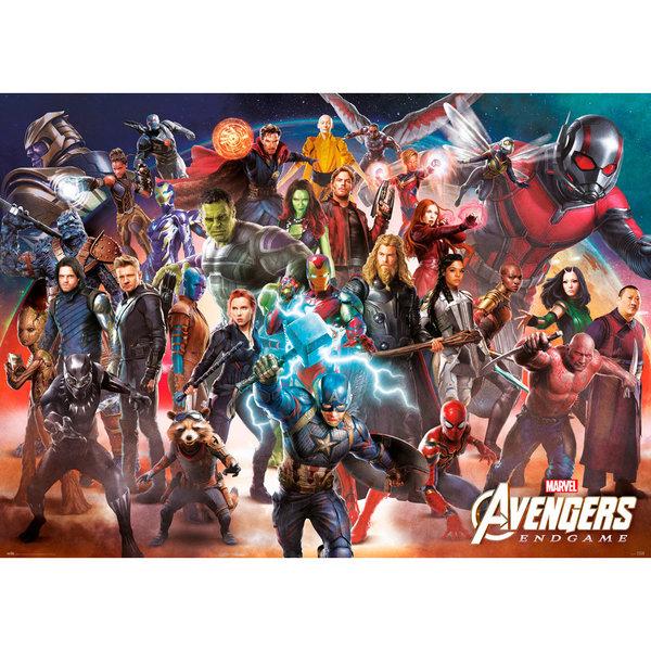 Marvel Avengers Endgame Line Up XL Poster