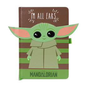 The Mandalorian The Child I Am All Ears Green Premium A5 Notebook