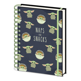 The Mandalorian The Child Naps And Snacks  A5 Notebook