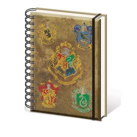 Harry Potter Hogwarts Crest Cahier de note A5