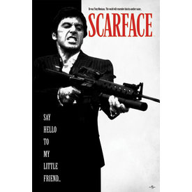Scarface Say Hello To My Little Friend Maxi Poster