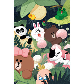 Line Friends Jungle Maxi Poster