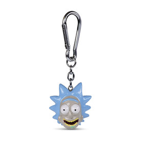 Rick and Morty Rick Head  Polyresin 3D Keyring