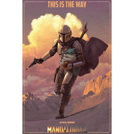 Star Wars The Mandalorian On The Run Maxi Poster