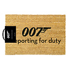 James Bond Reporting For Duty Doormat