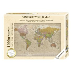 Vintage World Map Premium Puzzle 1000 pcs