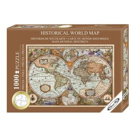 Historic World Map Premium Puzzel 1000 Stukjes