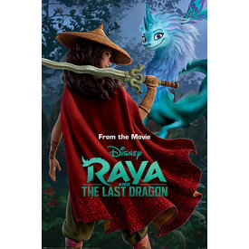 Raya And The Last Dragon Warrior In The Wild Maxi Poster