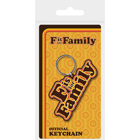 F Is For Family Retro Logo - Sleutelhanger
