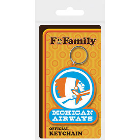 F Is For Family Mochican Airways - Keyring