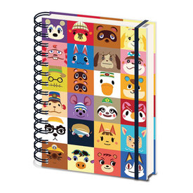 Animal Crossing New Horizons Villager Squares - A5 Notebook