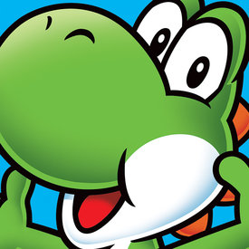 Super Mario Yoshi  - Canvas 40x40cm