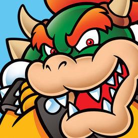 Super Mario Bowser - Canvas 40x40cm