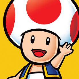 Super Mario Toad - Canvas 40x40cm