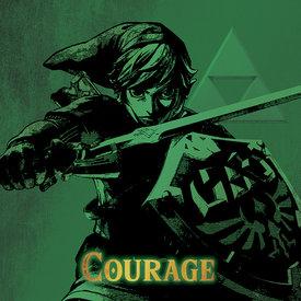 The Legend Of Zelda Courage - Canvas 40x40cm