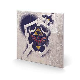 The Legend Of Zelda Hylian Shield Stencil - Wood Print 30x30cm