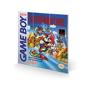 Gameboy Super Mario Land - Wood Print 30x30cm