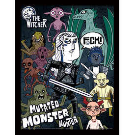 The Witcher Mutated Monster Hunter Framed Print