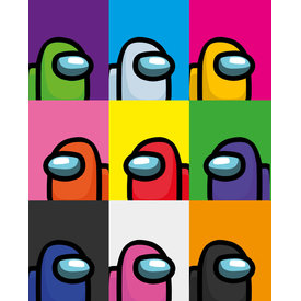 Among Us Popart Mini Poster