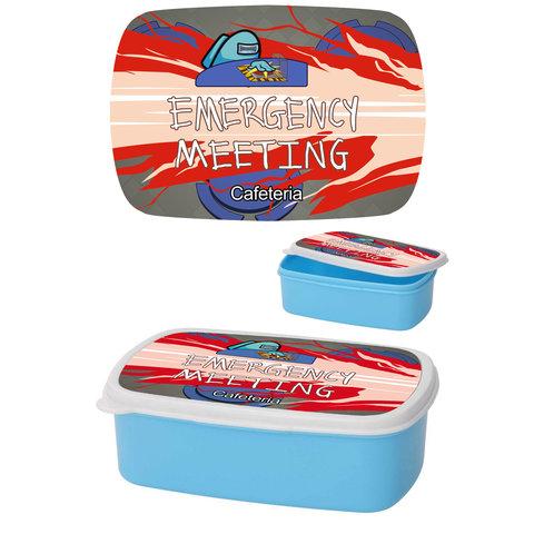 Among Us Emergency Meeting Cyan - Lunchbox