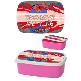 Among Us Emergency Meeting Magenta - Lunchbox