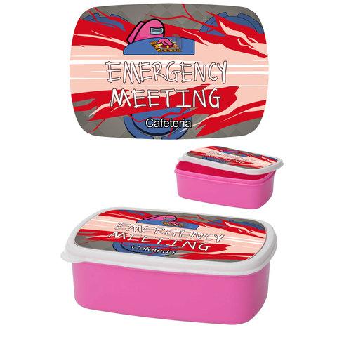 Among Us Emergency Meeting Magenta - Lunchbox