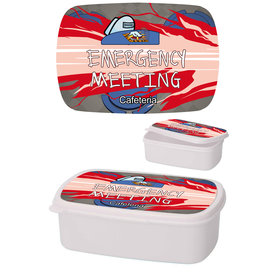 Among Us Emergency Meeting White - Lunchbox