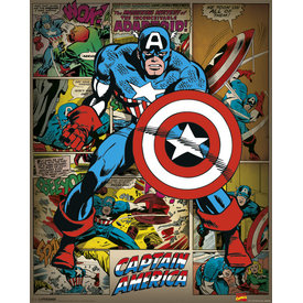 Marvel Comics Captain America Retro - Mini Poster
