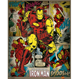 Marvel Comics Iron Man Retro - Mini Poster