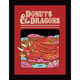 Vincent Trinidad Donuts And Dragons - Framed Print
