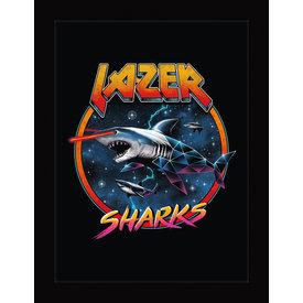 Vincent Trinidad Lazer Sharks - Framed Print