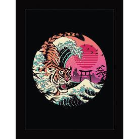 Vincent Trinidad Rad Tiger Wave - Framed Print