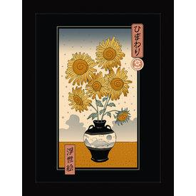 Vincent Trinidad Sunflowers Ukiyoe - Framed Print