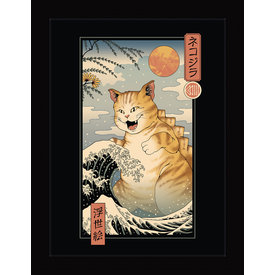 Vincent Trinidad Catzilla Ukiyoe - Framed Print