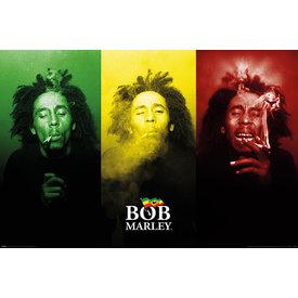 Bob Marley Tricolour Smoke - Maxi Poster