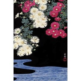 Ohara Koson Chrysanthemum and Running Water - Maxi Poster