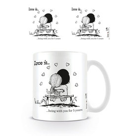 Love is ... Being With You For 5 Years - Mug